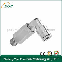 Factory extended push to connect air fittings