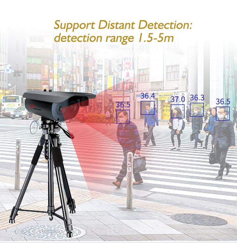 Thermal Camera Body Temperatue Detection Distance