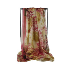 Bufandas largas de las mujeres de la venta caliente bufanda larga del poliester de la gasa del diseño