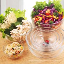 Haonai High quality and cheap printing color glass bowl for fruit 6pcs salad bowl