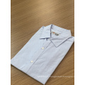 Male 100% cotton  jacquard long sleeve shirt