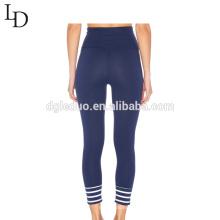 Alta qualidade personalizado elástico de cintura alta mulheres leggings calças de yoga