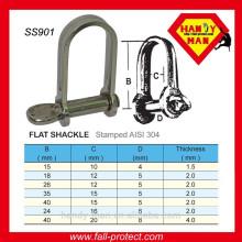 Aço inoxidável 304 D Shaped Lay Shackle