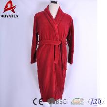 Custom quality cotton solid color bathrobe luxury hotel bathrobe