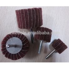 roda de aba abrasiva de vários tamanhos com haste