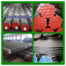 DIN1629 ST52.3 ST52 ST35.8 ST37.0 caliente laminado tubo inconsútil de acero