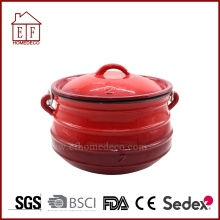 Potjie émail rouge Taille.2