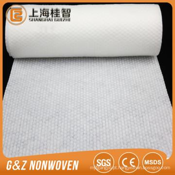 Material não tecido gravado da matéria prima tecido para a limpeza / tecido molhados
