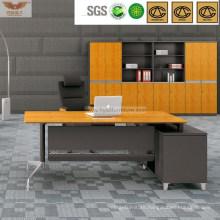 Executive Manager Desk L-Shape Table Cabinet Melamine Computer Desk (H60-0103)