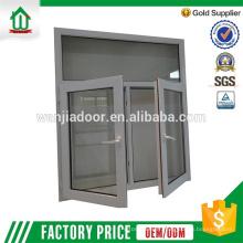 nouveau design Fenêtre en verre à battant arquée en aluminium