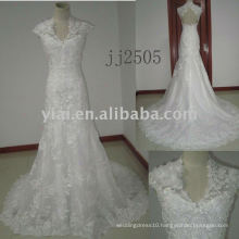 JJ2505 new arrival beaded A-line lace wedding gowns 2011