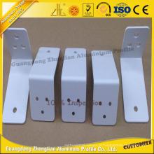 Peças de alumínio de perfuração do revestimento do pó do CNC para o perfil da decoração