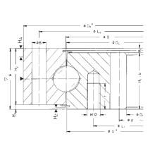 Rothe Erde Internal Gear Single Row Ball Slewing Bearings 062.40.1700.008.29.1503