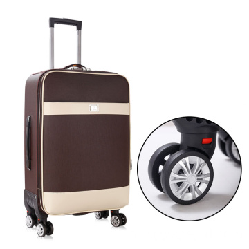 Duurzame PU business trolley koffer set 20 inch 28inch