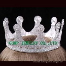 2016 Corona de cristal blanca del Rhinestone de la tiara cristalina de la fiesta de cumpleaños
