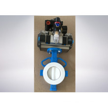 Pneumatic Actuator Butterfly Valve with PTFE Seat