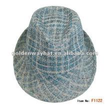 2014 Fashion Mens Checked Paper Trilby Hat a fait des chapeaux de feutre pour le commerce de gros