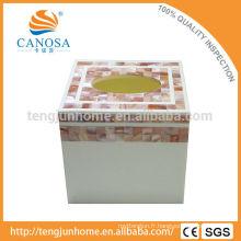 Boîte en tissu éco-rose pour la décoration de haute qualité