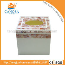 High Quality and Eco Pink Shell Tissue Box for Table Decor