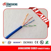 Fuente de fábrica para el cable resistente al fuego 1000FT 0.57mm 23AWG 4 pares UTP CAT6 Cable