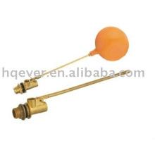 válvula de flutuador de latão de bola de plástico