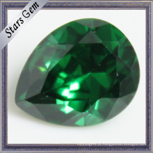 Zircônia cúbica do verde esmeralda da forma da pera para a jóia do CZ