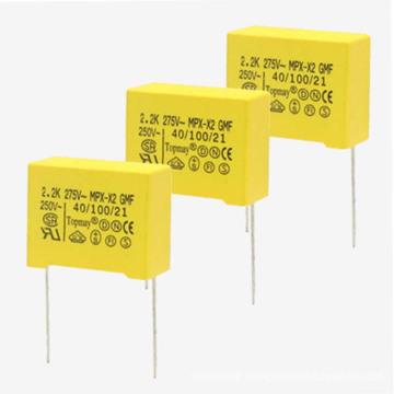 Long Life Reliable Small Yellow 275VAC X2 Metallized Polypropylene Film Capacitor Topmay -1