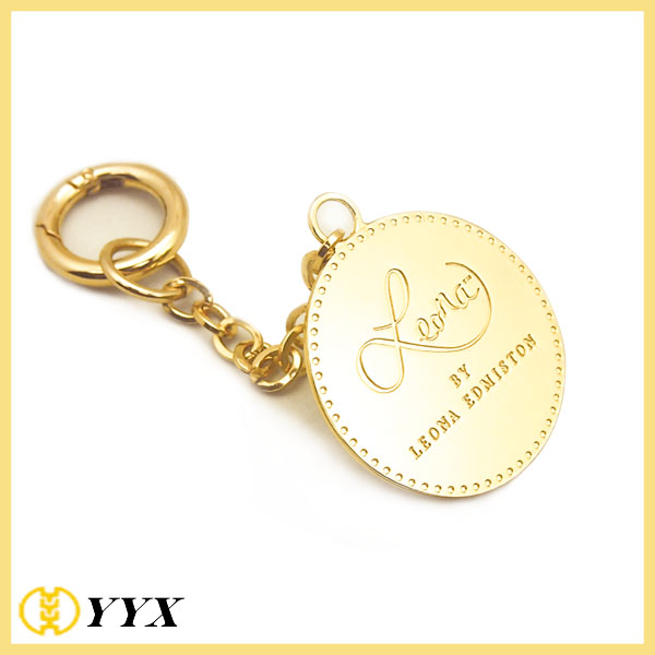 Gold Polished Round Tag