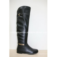 Novas botas femininas de neve quentes de inverno com sola de borracha