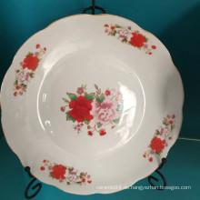 Runder Keramik Suppenteller, Linyi Porzellan Teller, Suppenschüssel