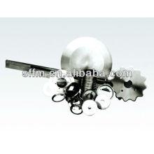 2013 venda quente Borracha máquina de corte de aço de alta velocidade oblongas lâminas