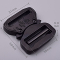 38mm Heavy Duty 300KG Steel Black Electrophoresis Tactical Cobra Belt Buckle For Military