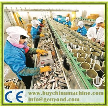 Chaîne de production de poisson en conserve entièrement automatique