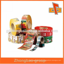 PVC printing promotional food grade PVC wrap film for instant noodle packing