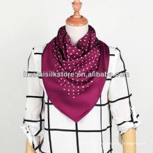 Polka Dot Foulard Popular Bufanda de seda de la señora