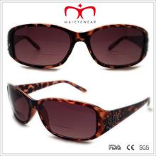 Plastic Rhinestone Bifocal Lens Sun Reading Glasses (WSP508310bf)