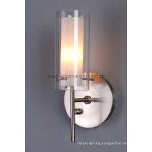 Modern Glass Wall Lamp Stain Nickel Wall Lamp