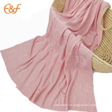 Cute Baby Bamboo Blanket Padrão de tricô de cabeça de animal
