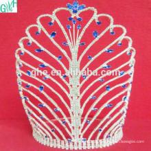 Super bela coroa de diamantes artificiais Coroa de moda