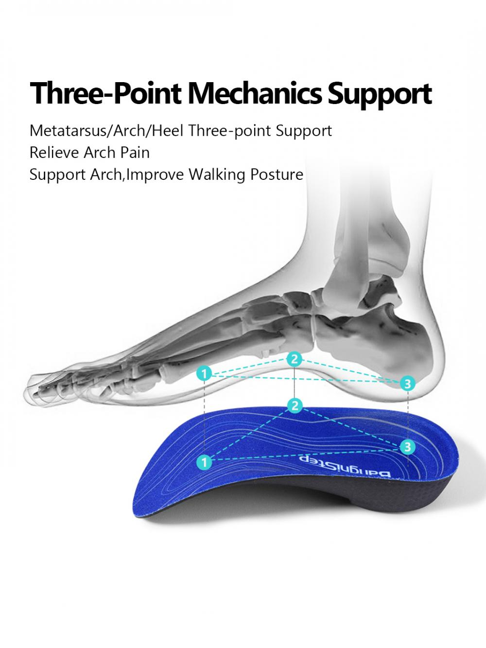 Half Orthotic Insoles For Flat Feet 3