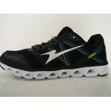 Men′s Black Light Running Shoes with Special Design Outsole