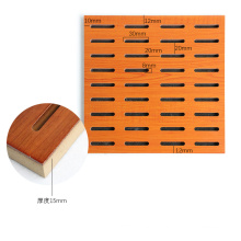 Classic Decoration Style for School/Office Perforated Wood Timber Acoustic Panel