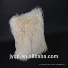 2018 véritable fourrure d'agneau mongole couverture de coussin de fourrure d'agneau