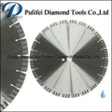 Uso geral concreto do tijolo do asfalto do granito do disco do corte do diamante do segmento da onda do turbocompressor