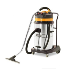 yellow color powerful suction large capacity stainless steel tank wet and dry vacuum cleaner for hotel shop home gym room