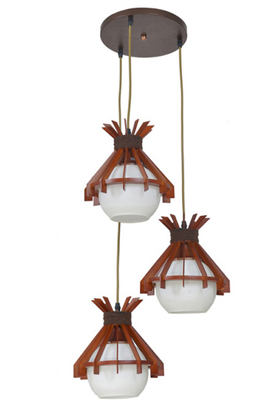 3 Light Wood Lamps