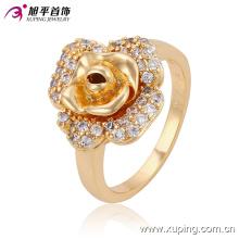 O mais novo diamante de moda em forma de flor anel de dedo de jóias de ouro para senhoras ou meninas 13590