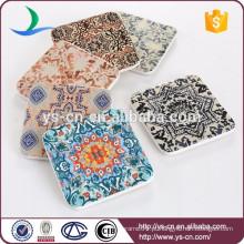 Atacado promocional decalque tapete de cerâmica quadrada tapete