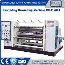 Machine de rembobinage à découpe de film plastique Hdpe