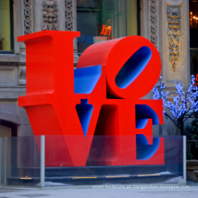 grandes esculturas ao ar livre metal artesanato robert indiana escultura amor